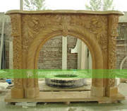 Good price marble fireplace mantels in different size and style